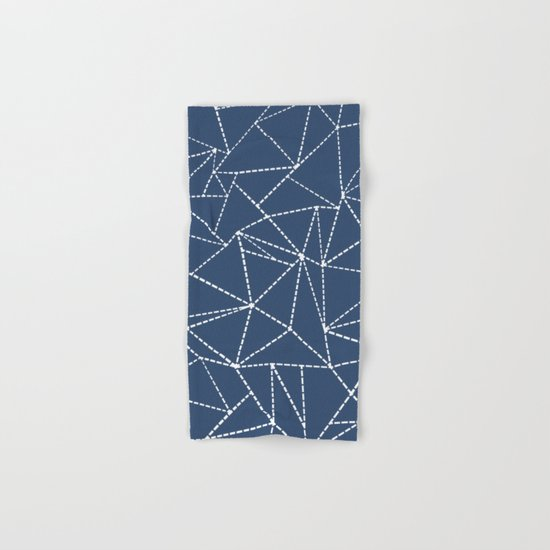 Ab Dotted Lines Navy Hand & Bath Towel
