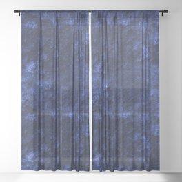 Royal blue navy velvet Sheer Curtain