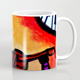 Silhouette Violinist Oval Coffee Mug
