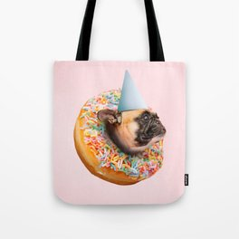 Dog Party Donut Tote Bag