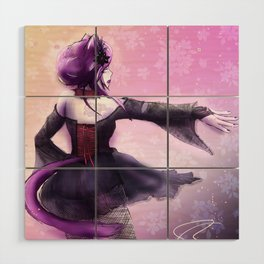 Liatris, Dramatic Goth Catlady Wood Wall Art