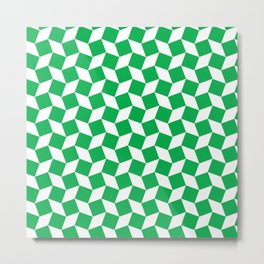 Green Op Art Pattern Metal Print