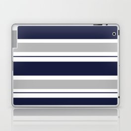 Navy Blue and Grey Stripe Laptop & iPad Skin