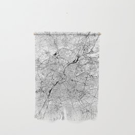 Brussels White Map Wall Hanging