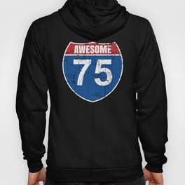 Cool Awesome 1945 Sign for 75th Birthday Hoody