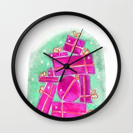stack of gifts Wall Clock