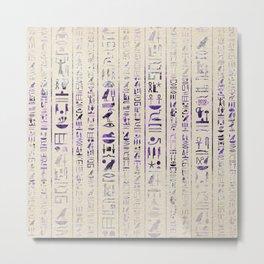 Amethyst Egyptian hieroglyphics on canvas Metal Print