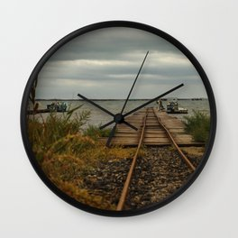 Beziers Bridge to the Mediterranean Sea Wall Clock