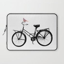 Baker's bicycle with bird Laptop Sleeve