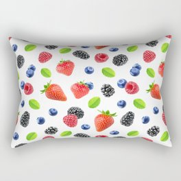 Fresh berries pattern Rectangular Pillow