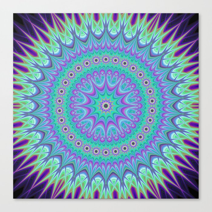 Explosive mandala ball Canvas Print