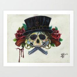 """Snake Eyes"" by KC Krimsin Art Print"