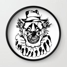 Black and white Evil Clown Wall Clock