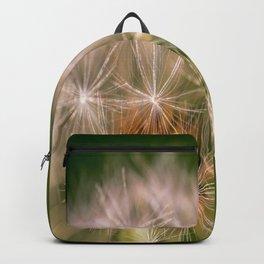Snowglobe - Macro Photograph of Dandelion Backpack
