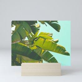 Banana Leaves II (Turquoise) Mini Art Print