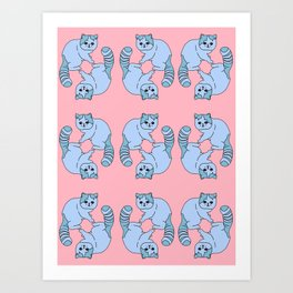 Playful Kittens, 2014. Art Print