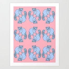 Playful Kittens, 2014. Art Print