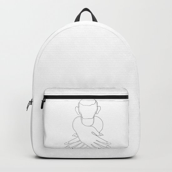 male in female hands Backpack