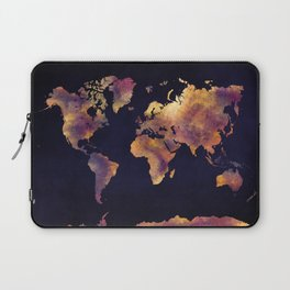 world map 64 Laptop Sleeve