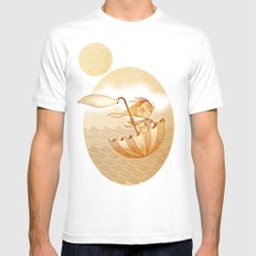 Freedom White MEDIUM Mens Fitted Tee