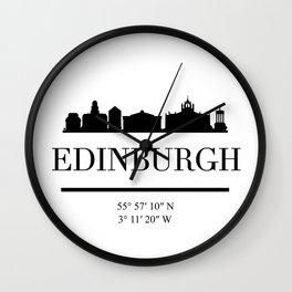 EDINBURGH SCOTLAND BLACK SILHOUETTE SKYLINE ART Wall Clock