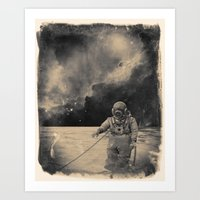 uncharted Art Prints featuring Uncharted Waters by Dylan Murphy