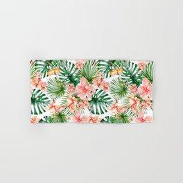 Tropical Jungle Hibiscus Flowers - Floral Hand & Bath Towel