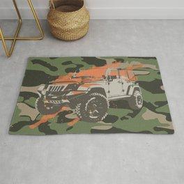 Camo Truck- Military Green Rug