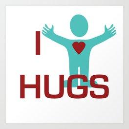 I heart Hugs Art Print