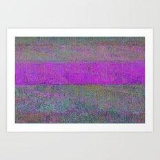 pink static Art Print