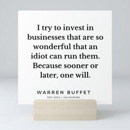 54    Warren Buffett Quotes   190823 Mini Art Print