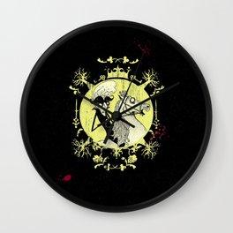 Count Dracula (yellow) Wall Clock