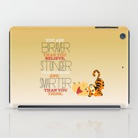 winnie the pooh iPad Cases featuring stronger, braver, smarter, winnie the pooh by studiomarshallarts