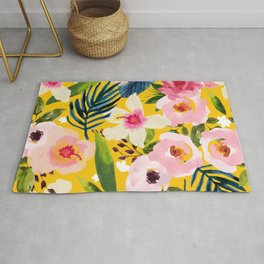 No Winter Lasts Forever; No Spring Skips It's Turn #painting #botanical Rug