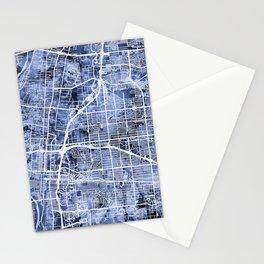 Albuquerque New Mexico City Street Map Stationery Cards