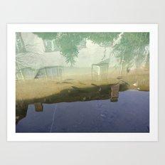 Still water relfection in Colmar Art Print