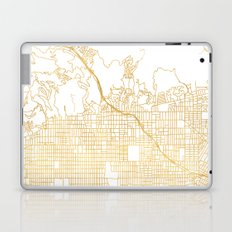 HOLLYWOOD CALIFORNIA CITY STREET MAP ART Laptop & iPad Skin