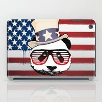 patriotic iPad Cases featuring Patriotic Panda by crayzeestuff