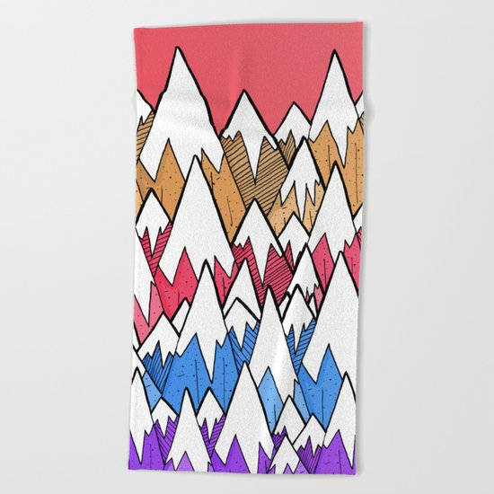 Mountains of colour Beach Towel