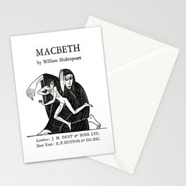 Macbeth William Shakespeare Book Cover Stationery Cards