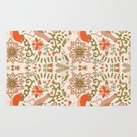birdy Area & Throw Rugs featuring Birdy by BeSpoken Cards