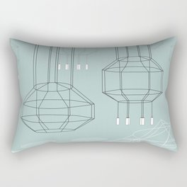 Geo Chandeliers - Green Rectangular Pillow