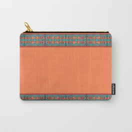 Abstract Waves - Peach and Aqua Carry-All Pouch