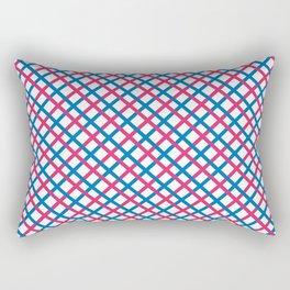 Red & blue stripes pattern Rectangular Pillow
