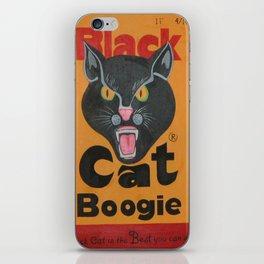 Black Cat Boogie iPhone Skin