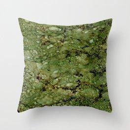 Green Camo Throw Pillow