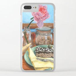 ''Catching Up'' Clear iPhone Case