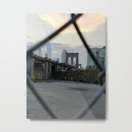 Brooklyn Bridge and NYC Metal Print