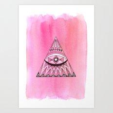 Geometric Triangle 2 Art Print