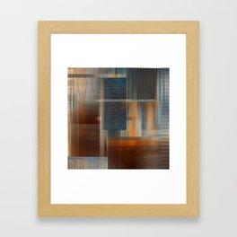 Uninhabited Mosaic (Zig Zag) Framed Art Print
